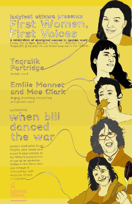 First Women, First Voices - poster by Elisha Lim